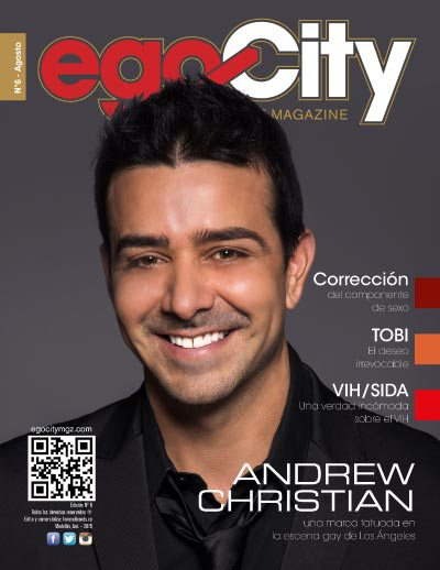 Andrew Christian en la revista gay colombia