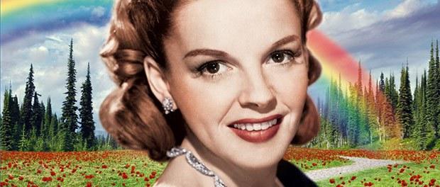 Judy Garland bajo el arcoíris