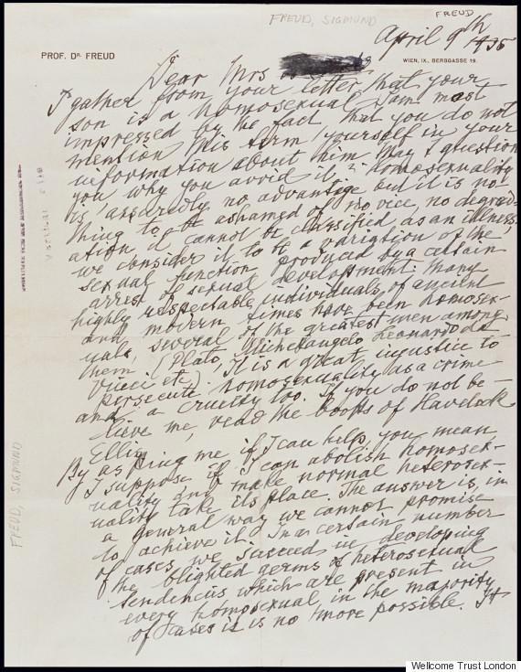 La carta que Sigmund Freud le escribió a una madre sobre su hijo homosexual