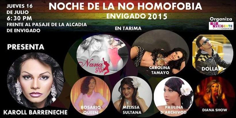 Noche de la No Homofobia en Envigado