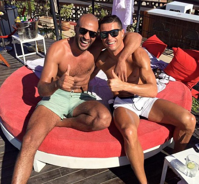 Cristiano Ronaldo y Badr Hari