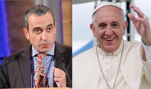 Laurent Stefanini y el Papa Francisco