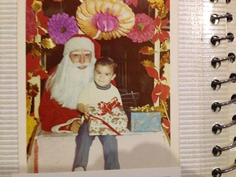 Santa Claus con Salvador Nuñez