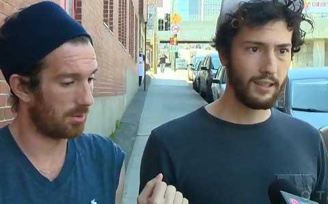 Simon y Sebastien, Pareja gay agredida en Montreal