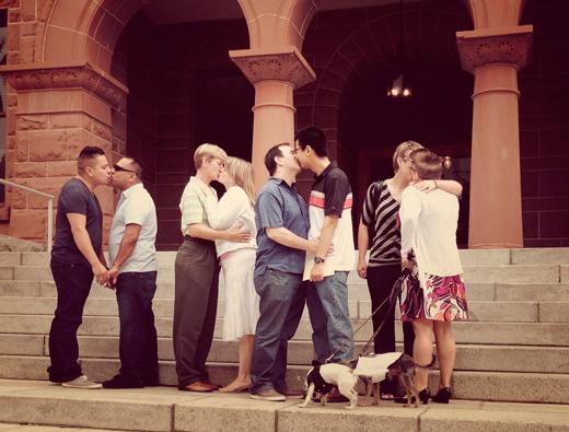 Gay kiss, Lesbian kiss