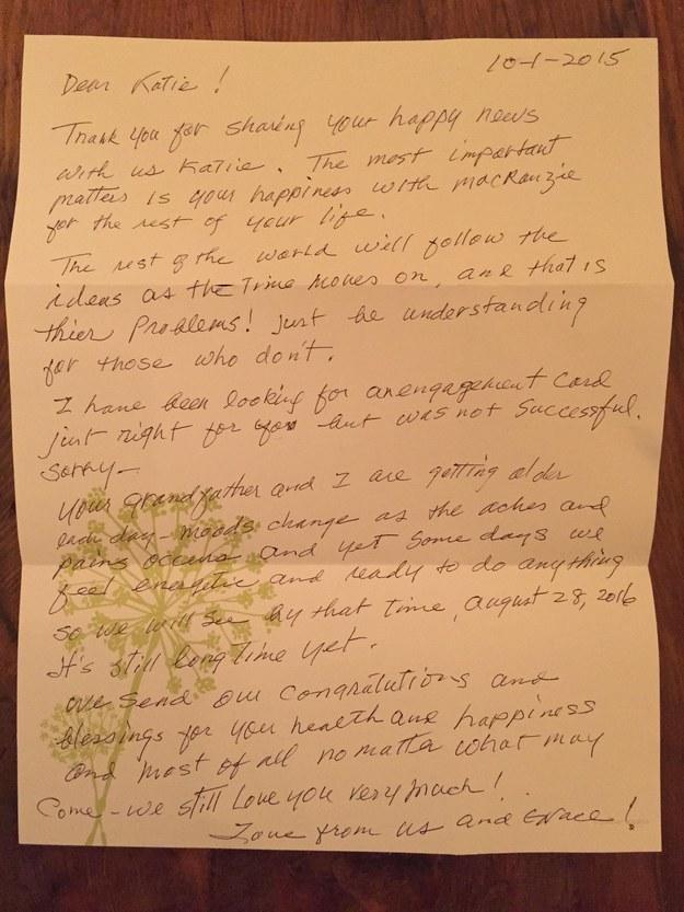 Carta de abuela a su nieta lesbiana