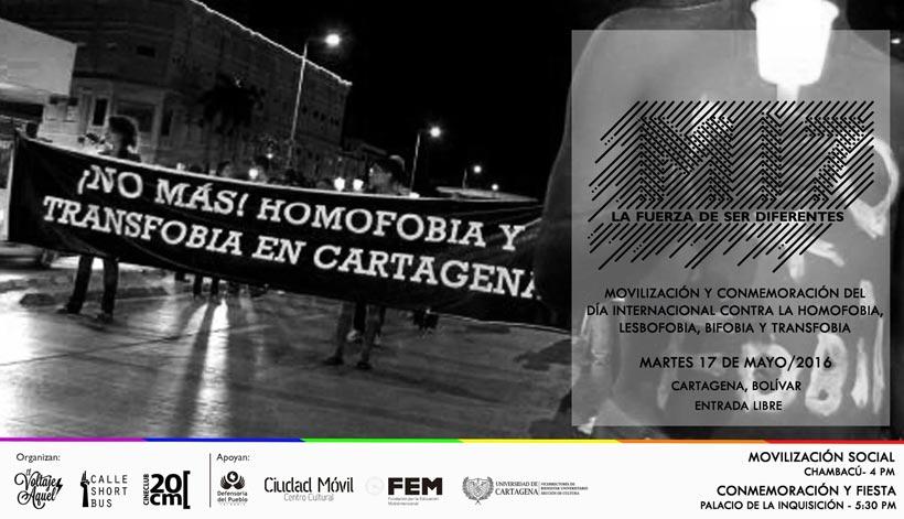 M17 contra la homofobia en Cartagena