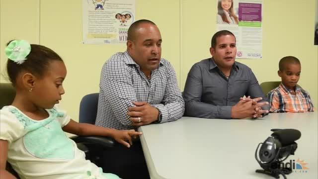 Jorge Vázquez Ramos y Joel Andrades Rivera decidieron darle un hogar a los hermanos Yair y Alaya.