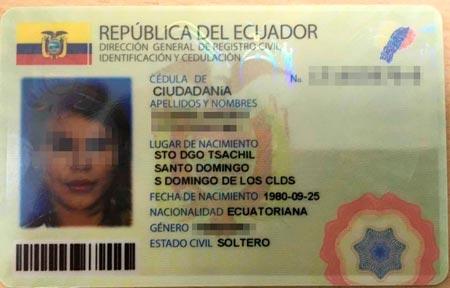 Identificacion ecuatoriana