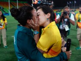 Le pide matrimonio en Río 2016