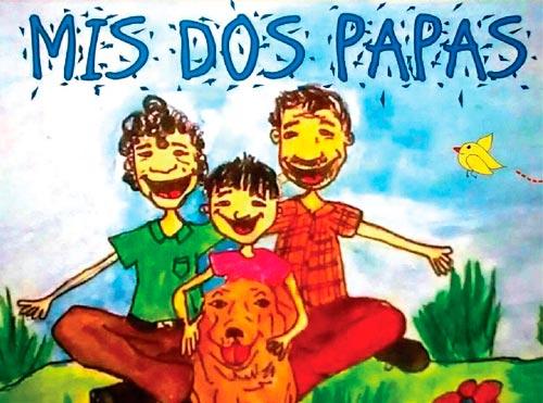 """Portad del libro """"Mis dos papás"""""""