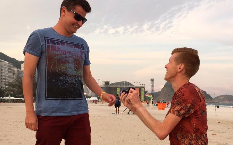 Tom Bosworth se decide y le pide matrimonio a su novio en Río