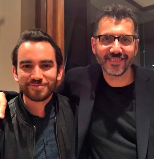Esteban Parra y Alberto Fuguet. / FOTO: libletter.blogspot.com.co