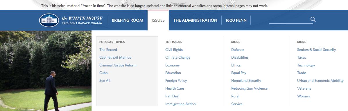 Casa Blanca Presidente Obama Web