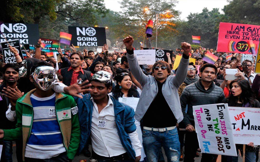 Primera vez en la historia, India reconoce derechos de población LGBT