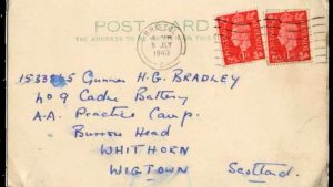 Cartas de amor entre dos soldados durante Segunda Guerra Mundial