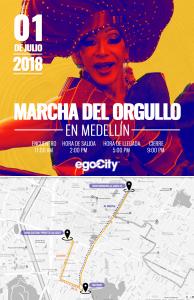 marcha del orgullo gay en colombia 2018 - Medellin