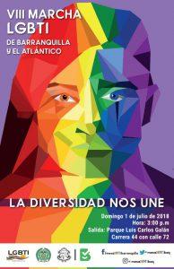 marcha del orgullo gay en colombia 2018 - Barranquilla