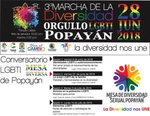 marcha del orgullo gay en colombia 2018 - Popayan