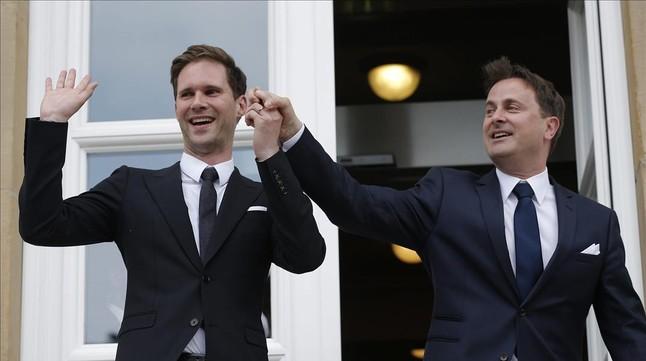 Primer Ministro de Luxemburgo y su esposo